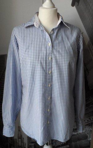 original TOMMY HILFIGER Bluse Gr. 10 Blau Weiß kariert wenig getragen