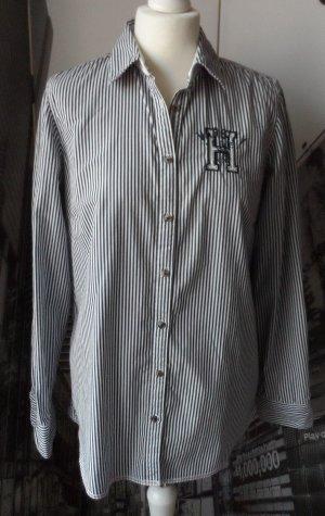 original TOMMY HILFIGER Bluse Gr. 10 Dunkelblau Weiß gestreift wenig getragen