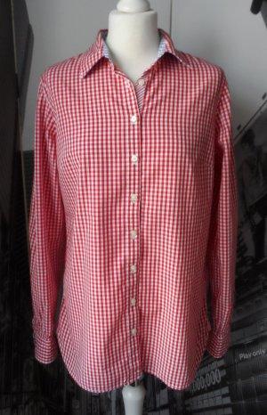 original TOMMY HILFIGER Bluse Gr. 10 Rot Weiß kariert wenig getragen