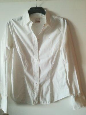 Original Tommy Hilfiger Bluse, klassisch, sehr weich, mit Logo
