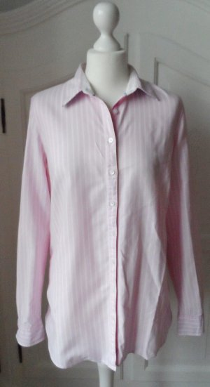 original Tommy Hilfiger Oxford Bluse Gr.10 (40) Rosa Weiß wenig getragen