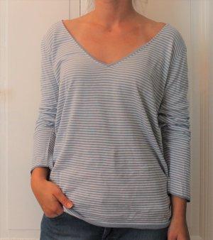 Tommy Hilfiger T-shirt rayé bleu azur-blanc coton