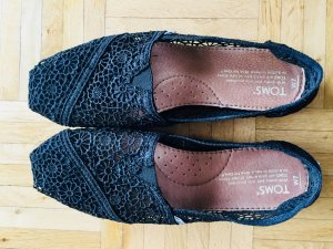 Original Toms Black Crochet Ballerinas