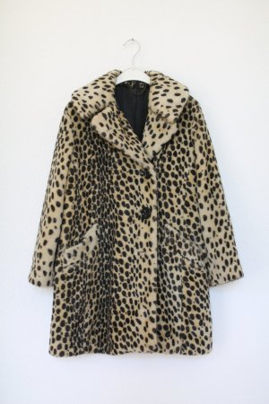 Original Topshop Leopard Animal Print Mantel Fake Fur 60s Vintage Look Gr. 36