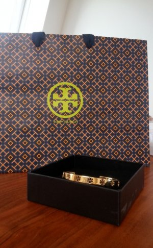 Tory Burch Bangle gold-colored-sand brown