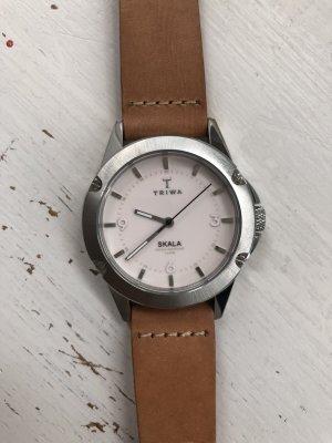 Original Triwa Skala Watch Armband Uhr wie neu 1x getragen Lederarmband Blush
