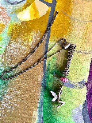 original Trollbeads Halskette - zarter Silber Elfe und Anhängern