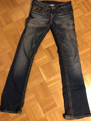 Original True Religion Bootcut Jeans dicke Nähte Gr W27