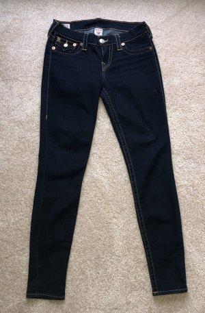True Religion Jeans skinny blu scuro Cotone