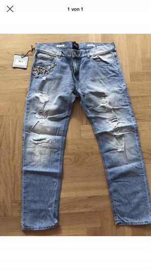 Twin Set Jeans Tube jeans azuur-staalblauw