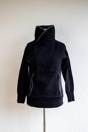 Original UCON Hoodie in schwarz mit Muff-Taschen und grauen Abnähern. Gr S 36