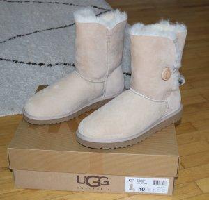 UGG Australia Stivale da neve beige chiaro Pelliccia