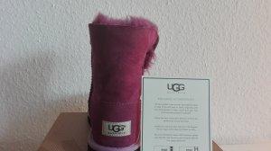 Original UGG Boots Bailey Button Gr. 37,5/ Farbe aubergine