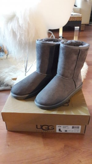 UGG Australia Snow Boots silver-colored leather