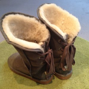 UGG Australia Boots anthracite-white suede