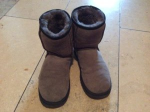 UGG Australia Low boot gris clair cuir