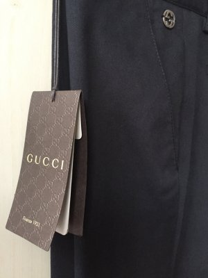 Gucci Pantalón tipo suéter azul oscuro
