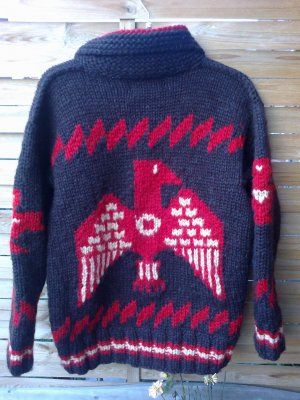 Original USA Canadian Sweather 425 Euro, Unikate Strickjacke Wolle Vintage