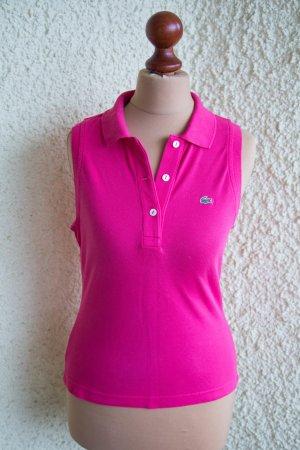 Original V-Ausschnitt Shirt ohne Ärmel in pink von Lacoste