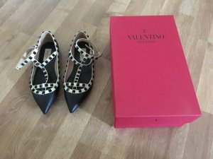 Original Valentino Rockstud Ballerinas black/white Kollektion