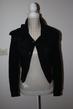 Vero Moda Coarse Knitted Jacket black mixture fibre