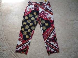 Versace Collection Pantalón tobillero multicolor Algodón