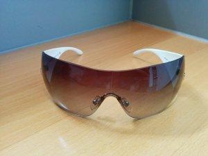 Original VERSACE Designer Sonnebrille Weiß getöntes Verlaufglas UV-Schutz Etui