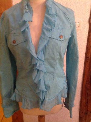 Versace Jeans Denim Jacket baby blue mixture fibre