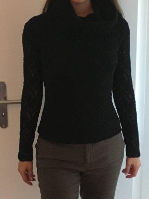 Original Versace Jeans Pullover in Gr. 38, komplett aus Spitze, schwarz