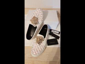 Versace Sneaker slip-on bianco-rosa