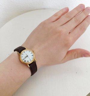 Original vintage Armbanduhr Nostalgie Echtleder Braun Uhr Bohemian