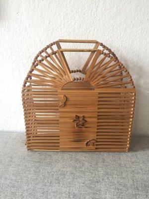 Original Vintage Bambus Handtasche