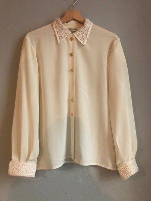 Original Vintage Bluse in weiß/creme