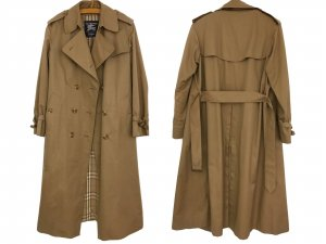 Original Vintage Burberry Trenchcoat Mantel Burberry London Trench Coat Karo Muster 80er Jahre