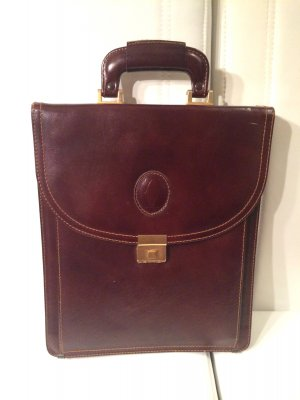 Cartier Briefcase brown red leather