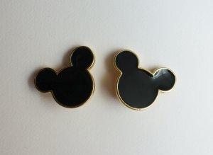 Disney Pendientes de clip marrón arena