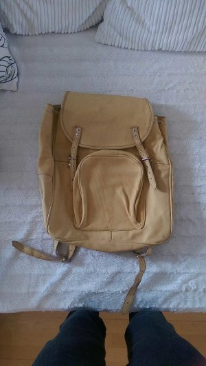 Backpack ocher-sand brown