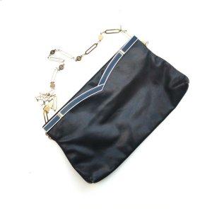 Original vintage Echtleder Tasche 70er schwarz Chainkette Boho Urban