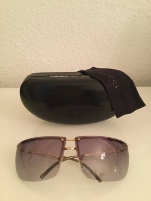 Gucci Retro Glasses grey lilac synthetic material