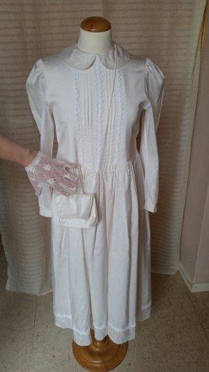 Midi-jurk room-licht beige Zijde