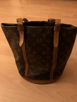 Louis Vuitton Pouch Bag bronze-colored leather