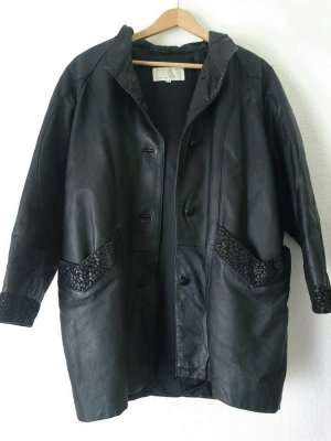 Oversized Jacket black leather
