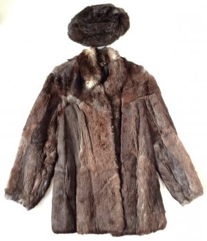 Vintage Pelt Coat multicolored pelt