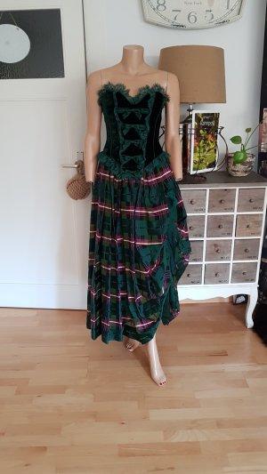 original Vintage Rena Lange Couture Seiden/Samt Kleid