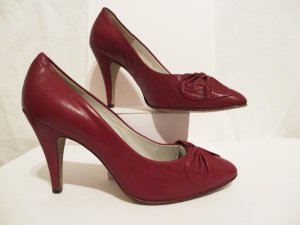 original Vintage Salamander Pumps Gr 35,5 (3) in rot Leder wow!