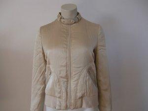 Original Warehouse Luxus Biker-Jacke aus 100%Seide Gr.34/36/XS/S beige creme