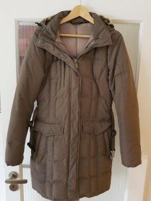 Woolrich Down Coat ocher synthetic fibre