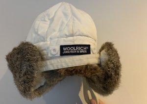 Woolrich Bonnet cache-oreilles crème