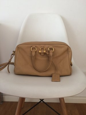 Original Yves Saint Laurent Bowling Bag, Beige