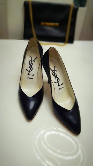 Original Yves Saint Laurent Elegante Pumps Gr. 38,5 schwarz.